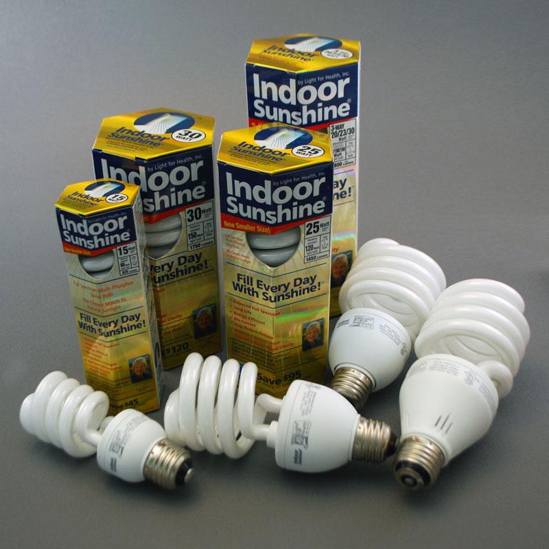 Indoor Sunshine Spiral Bulbs (CFLs)